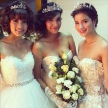 นางเอก 4 คน จาก 3 ช่อง ถ่ายชุดแต่งงานร่วมกัน..!!