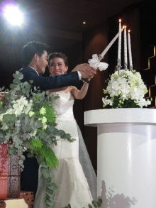 แนน-ปิยะดา ควง กึ้ย-ศุภชัย ทายาทโรงแรมเดอะ แกรนด์ โฟร์วิงส์ ฉลองมงคลสมรส