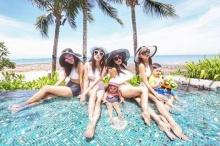 5สาวแซ่บ  เป้ย-เมย์-ครีม-หนิง-กระแต จัดเต็มชุดว่ายน้ำปาร์ตี้ริมสระ