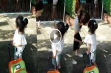 """""""น้องมะลิ"""" ไปโรงเรียนในชุดไทย มาดูวินาทีที่ต้องลากับแม่ """"โบว์"""" เกิดอะไรขึ้น"""