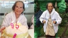 ครบ 95 ปี คุณยายมารศรี  ยังแข็งแรง!เป่าเค้กวันเกิด ลูกหลานพร้อมหน้า