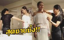 """""""นิว นภัสสร"""" เผยความรู้สึก หลังพระองค์หญิงฯ ทรงออกแบบชุดแต่งงานให้!!"""