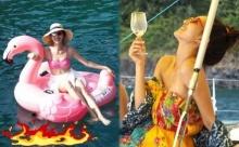 """ซูมชัดๆ!! """"แพนเค้ก"""" อวดหุ่นเป๊ะเว่อร์!! นุ่งชุดว่ายน้ำน่ารักสดใส"""