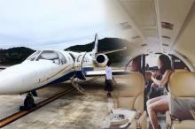 ชีวิตดี๊ดี!! คริส หอวัง ควงแฟนไฮโซ หนุ่มเซนต์ นั่งเครื่องบินเจ็ทเที่ยวเบาๆ
