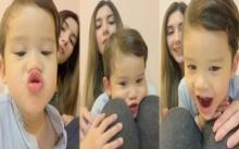 ซุปตาร์ตัวน้อย!!! เมื่อ น้องแม็กซ์เวลล์ ลูก ซาร่า-ไมค์ เล่นกล้องทำหล่อแล้วเป็นแบบนี้!!! (มีคลิป)