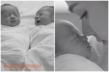 ครั้งแรกที่ได้เห็นหน้าลูก! 'สายฟ้า-พายุ' ลูกแฝดชมพู่ เป็นนายแบบโฆษณาตั้งแต่แรกคลอด(คลิป)