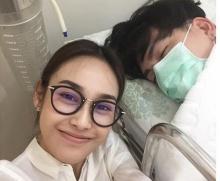 คู่นี้น่ารักมากกก ผู้ชายป่วย ผู้หญิง นั่งเฝ้าถึงขอบเตียง