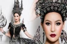 สะกดทุกสายตา ! ชุดประจำชาติไทย ที่ได้แรงบันดาลใจจาก เจดีย์สามองค์ แฟนนางงามอ้าปากค้า