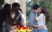 """โอ๊ยแซ่บ!! """"เก้า จิรายุ-พลอย เฌอมาลย์"""" จูบจริง!! ก่อนที่จะเปิดเกมรักสุดเร่าร้อน!!"""