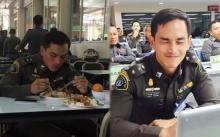 """ส่องภาพ """"สงกรานต์"""" ในเครื่องแบบ มาดตำรวจหล่อหุ่นแน่นเว่อร์!!"""