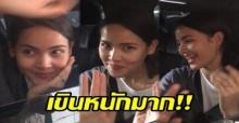 """เผยวินาที """"ญาญ่า"""" เดินทางกลับถึงไทย แต่ดันโดนแฟนคลับแซวแบบนี้? (มีคลิป)"""