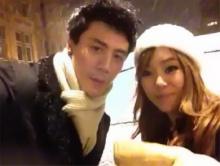 กัสจัง ควง โดม ลุยหิมะลอนดอน