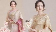 งามเพอร์เฟค!! แต้ว ณฐพร ในลุคไทย ถ่ายแบบชุดแต่งงานสวยงามมาก