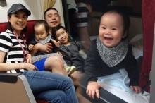 ครอบครัวสุขสันต์ นิหน่า-แบงค์ พาลูกๆขึ้นรถไฟไทยเที่ยวครั้งแรก