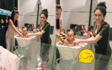 เนย โชติกา ซ้อมอาบน้ำ น้องเจ้าขา ลูก กระแต บอกเลยน่ารักมาก!!