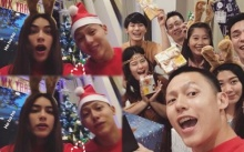 """อบอุ่นสุดๆ """"หมาก-คิม"""" พร้อมครอบครัวและเพื่อนๆ จัดปาร์ตี้แลกของขวัญวันคริสมาสต์ (มีคลิป)"""