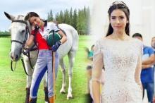 ส่องภาพ ศรีริต้า เจนเซ่น เล่นกีฬาโปโลสุดโปรดกับท่าควบม้าที่เผ็ดเด็ดดวง