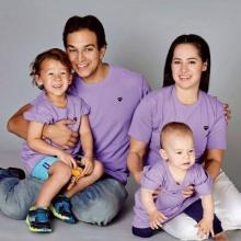 ชมภาพ ครอบครัวคุณ พลอยไพลิน เจนเซน สามีและลูกๆ ที่น่ารักแสนอบอุ่น