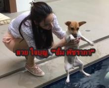 อั้ม พัชราภา รักน้องหมาถึงขนาดต้องทำแบบนี้!!