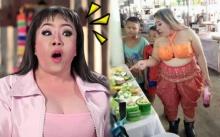 """อุต๊ะ!!! เมื่อคุณแม่ """"ลีน่าจัง"""" อนุรักษ์วัฒนธรรมไทย นุ่งตะเบงมาน ตะลุยตลาด!!"""