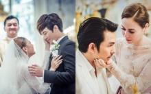 """โมเมนต์สุดซึ้ง 5 คู่รักซุปตาร์ที่ """"เจ้าบ่าว"""" ถึงกับหลั่งน้ำตาด้วยความสุขในวันแต่งงาน"""