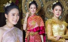 """งามอย่างไทยของแท้!! """"ทับทิม อัญรินทร์"""" ขอสวมชุดไทย งานนี้สวยเลอค่าหนักมาก!!"""