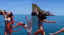 สวยนักต้องโดน! เมื่อ ลูกเกด เมทินี เจอเพื่อนรักถีบตกทะเล ด้วยวิธีที่ทำฮาลั่นทั้งโซเชียล! (คลิป)