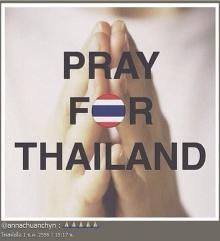 ดารานักร้องเมืองไทย ร่วมติดแท็ก #PrayForThailand หลังเกิดเหตุการณ์คนไทยปะทะกันเอง