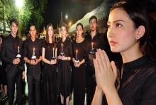 นักแสดงช่อง 3 ร่วมจุดเทียนและร้องเพลงสรรเสริญพระบารมี