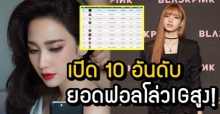 เปิดอันดับยอดฟอลโล่วIG ซุปตาร์ของเมืองไทย มีเพียง 2 หนุ่ม ติดโผ 1 ใน 10 ?!