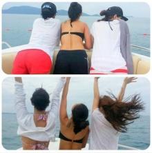 อื้อหือ!สามสาวอุ้ม-จียอน-ชมพู่ โชว์เชฟสะเด็ดในชุดว่ายน้ำ ริมทะเล