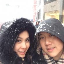 pic:: นุ้ย-ปอนด์ตะลุยหิมะที่ ซัปโปโร ประเทศญี่ปุ่น