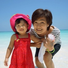 น้องวันใหม่ เมื่อวันไปเที่ยวทะเล