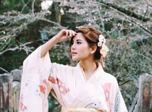 ก้อย รัชวิน ในชุดยูกาตะสวยหวานมาก