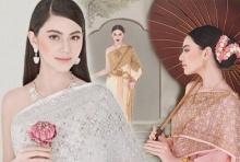 ใหม่ ดาวิกา ห่มสไบถ่ายแฟชั่นชุดไทยสมเป็นกุลสตรีศรีสยาม ดูรวมๆแล้วมีเสน่ห์