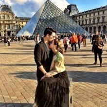 เก็บตกภาพหวาน !! ซี - เอมี่ จุ๊บเหม่ง ณ ปารีส
