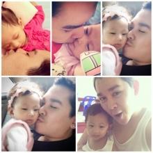 ภาพซึ้ง คุณพ่อสีม่วง อาร์ต KPNและ น้องฮันน่าลูกสาว ตัวน้อย