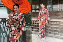 อั้ม พัชราภา แปลงโฉมเป็นสาวญี่ปุ่น สาดความโนเนะ!! ในชุดกิโมโน