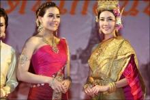 งดงามเลอค่านุ่น-คิมในชุดไทย งาน รำลึกรัตนโกสินทร์ 230 ปี