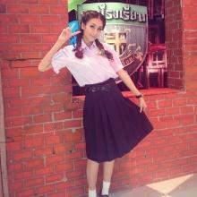 น่ารักเนย โชติกาในชุดนักเรียน