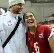 หวานเชี๊ยว!น้องอร อรอุมา-รูเบนนักบาสทีมชาติ คู่รักนักกีฬาคนดัง