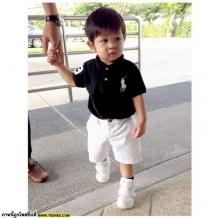Pic : น้องโปรด ลูกชายแม่เป้ย กับวันเข้าเรียนวันแรก