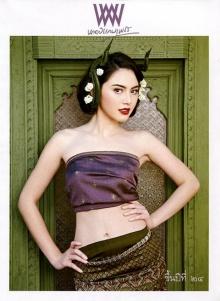 ใหม่ ดาวิกา งดงามแบบไทย จาก พลอยแกมเพชร