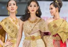 สวยสง่างาม!!เหล่าสาวสวยกับชุดไทยแต่ละนางจัดเต็มมากๆ!!
