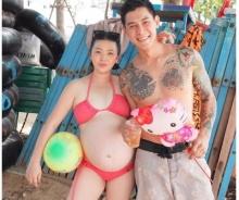 """สตรอง!!! """"ฮารุ"""" อุ้มท้อง 8 เดือน ควง """"กาย"""" เที่ยวทะเล"""