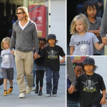 Brad Pitt พาลูกๆ4คนไปดูหนัง