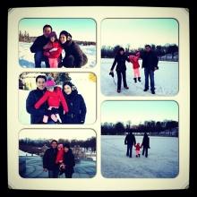 ธัญญ่า - เป๊ก พาน้องลียา รับลมหนาวเล่นหิมะในนอร์เวย์