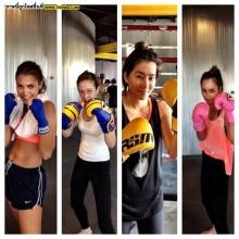Pic : เมื่อสาว ๆ ฟิตแอนด์เฟิร์ม กับกีฬามวย