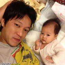 pic:ความอบอุ่นของพ่อจินและน้องนิริน