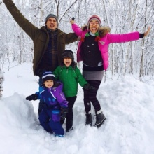 ครอบครัวสุขสันต์ เคน ควงหน่อย พร้อมลูกๆ ตะลุยหิมะฮอกไกโด